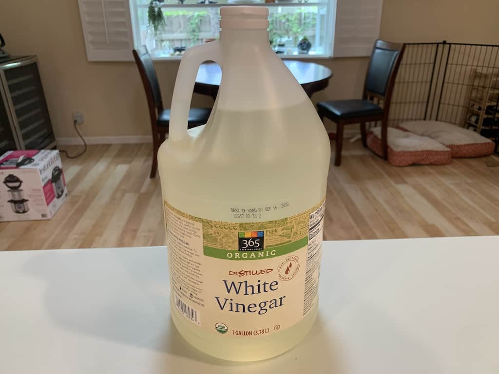 white vinegar to be used as a wash for moringa leaves