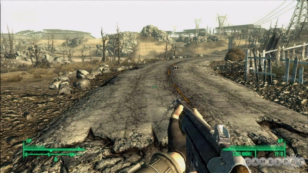 Fallout gameplay in a wasteland