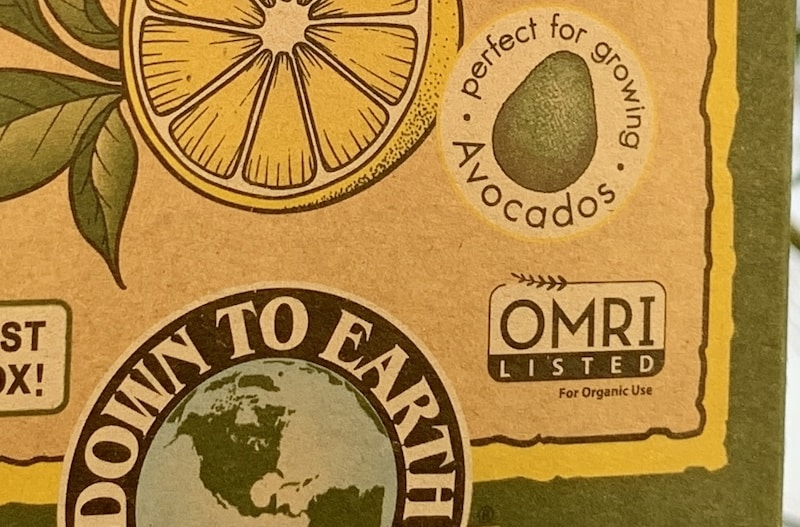 down to earth for citrus and avocado fertilizer